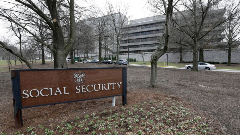 FILE - In this Jan. 11, 2013 file photo, the Social Security Administration's main campus is seen in