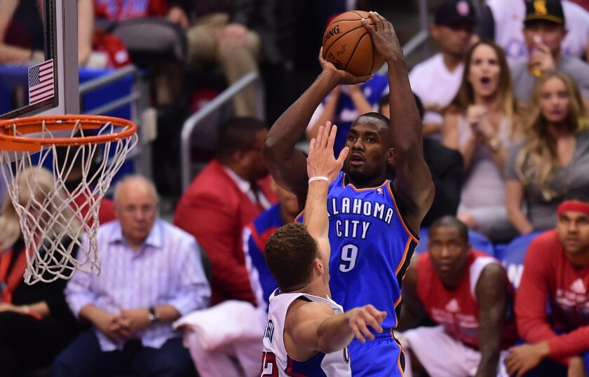 Serge Ibaka is now considered day to day with a left calf injury and could make a return to the court for the Oklahoma City Thunder.