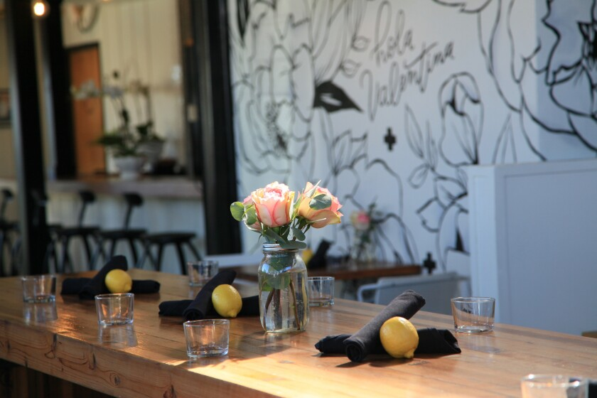 Diners at Valentina Restaurant in Leucadia can take home a fresh lemon grown in the owners' 2-acre grove.