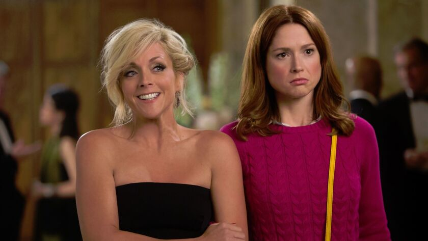 "Jane Krakowski and Ellie Kemper in ""Unbreakable Kimmy Schmidt."""
