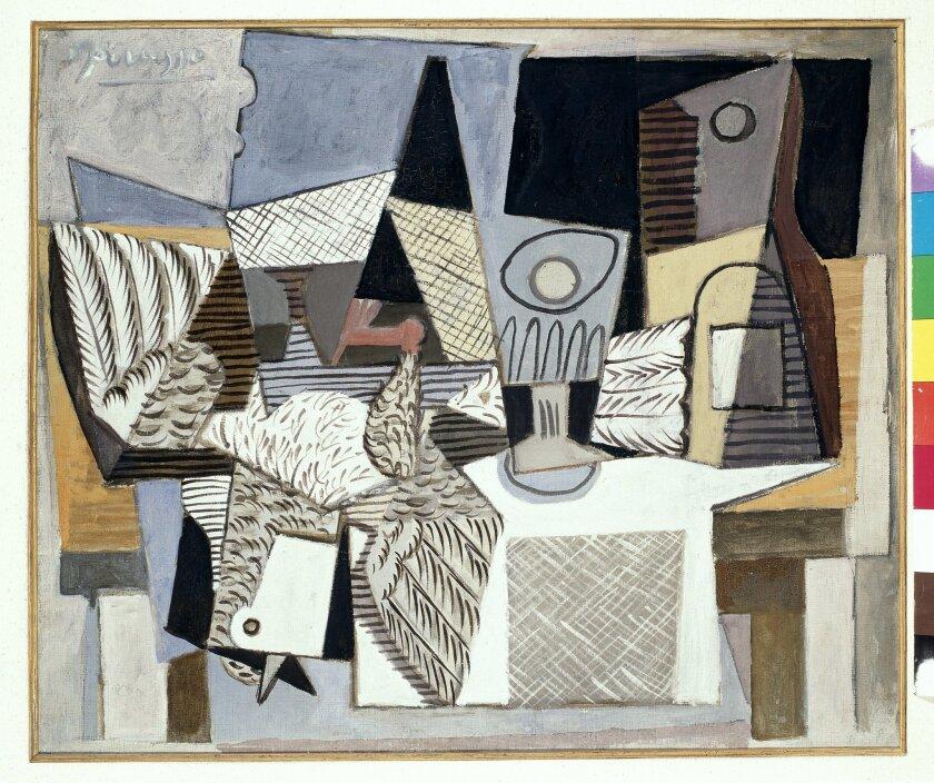 """Naturalesa Muerte con Paloma,"" oil on canvas, by Pablo Picasso, 1919."