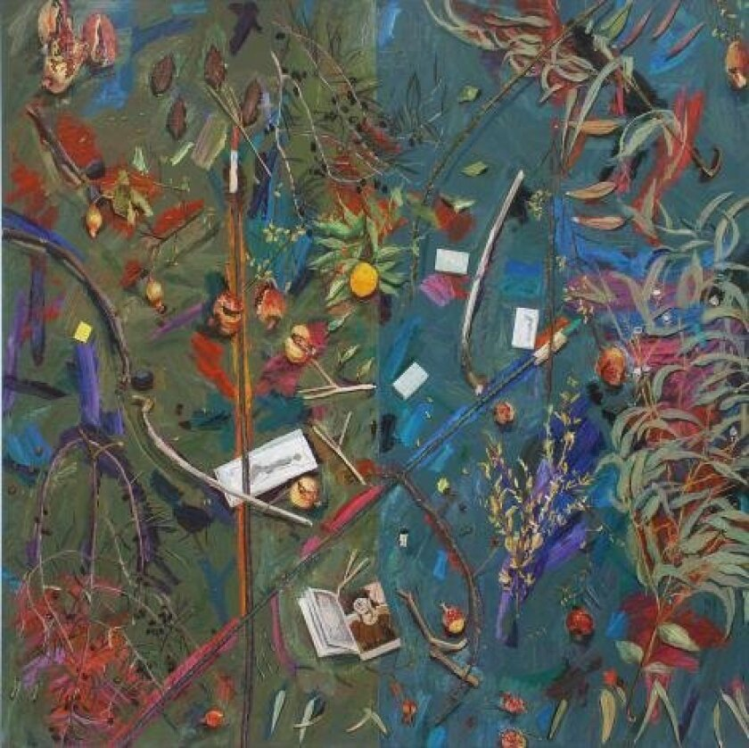 Manny Farber Batiquitos 1995 oil on board Collection Museum of Contemporary Art San Diego, Museum purchase, International and Contemporary Collectors Funds. © Manny Farber 1995. Photo by Pablo Mason.