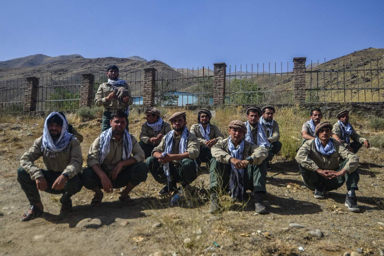 Jóvenes afganos que serán incorporados a las Fuerzas de Seguridad Afganas