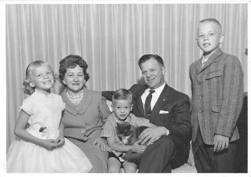 Edward Skalicky, his late wife, Lee, and their three children