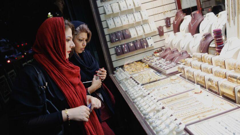 Iranians purchasing gold to safeguard their savings ahead of US sanctions loom, Tehran, Iran (Islamic Republic Of) - 05 Aug 2018