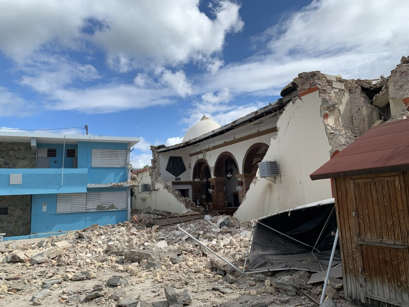 Parroquia Inmaculada Concepción church was heavily damaged after a magnitude 6.4 earthquake hit just south of the island in Guayanilla, Puerto Rico.