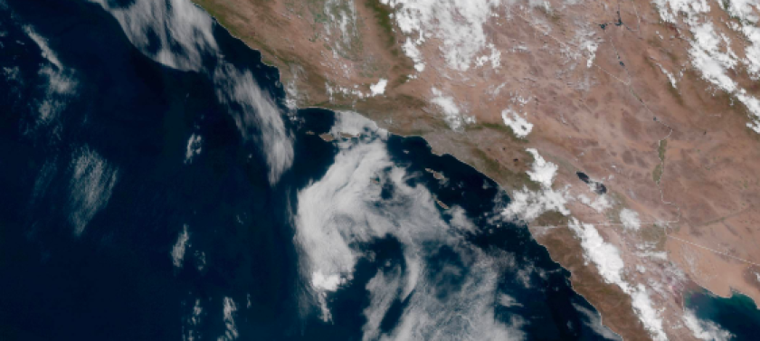 Warm, humid, unstable air is flowing into inland San Diego County from Mexico, sparking thunderstorms.