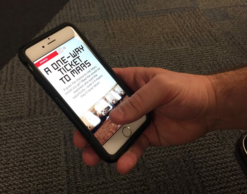A look at CNN's page on the Discover section within the Snapchat app.