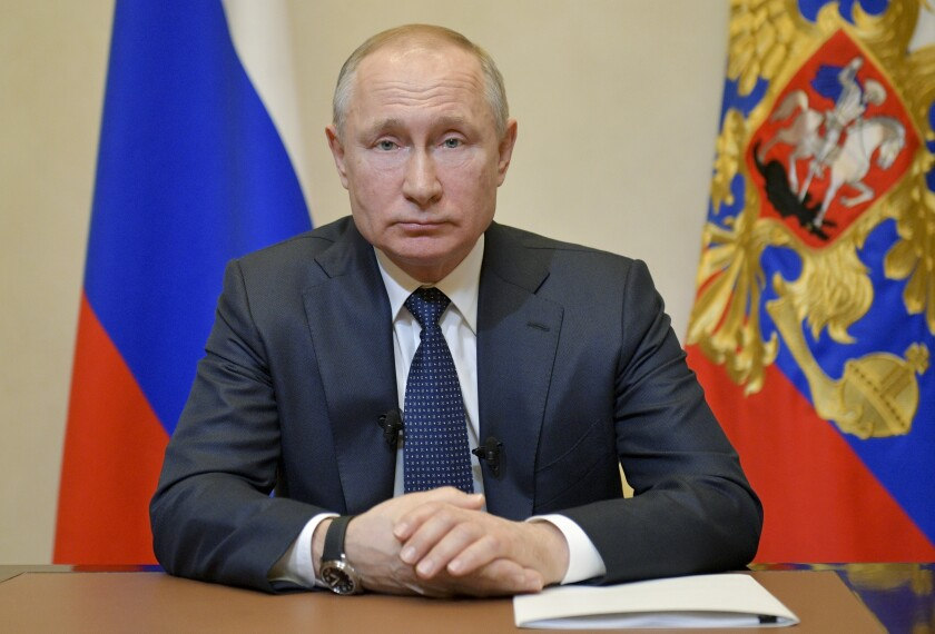 Citing Virus Putin Delays Vote That Would Extend His Rule Los Angeles Times