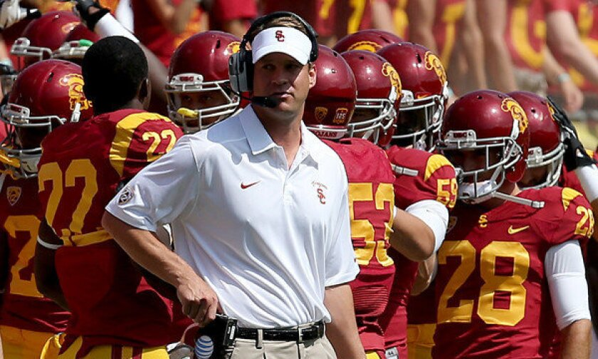 Usc Fires Lane Kiffin Los Angeles Times