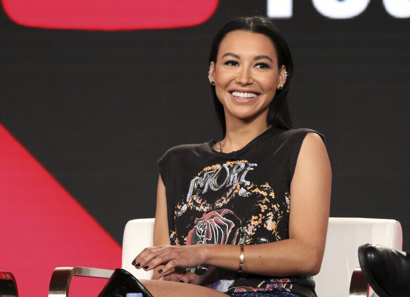 """FILE - In this Jan. 13, 2018, file photo, Naya Rivera participates in the """"Step Up: High Water"""" panel during the YouTube Television Critics Association Winter Press Tour in Pasadena, Calif. The search to find """"Glee"""" TV show star Rivera in a Southern California lake ended Saturday, July 11, 2020, without any results, authorities said. The Ventura County Sheriff's Office said in a tweet Saturday night that the search of Lake Piru will resume Sunday morning. Authorities said Thursday they believe Rivera drowned in the lake. Her 4-year-old son was found alone in a rented boat. (Photo by Willy Sanjuan/Invision/AP, File)"""
