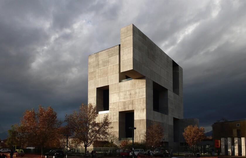 Architect Alejandro Aravena's Angelini Innovation Center on the campus of Catholic University in Santiago, Chile.