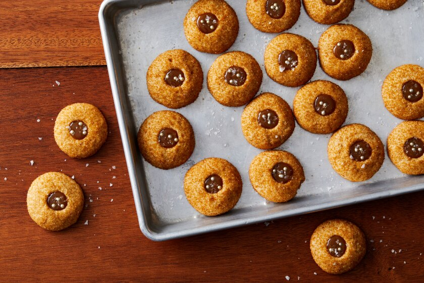 12 Days of Holiday Cookies: Salted Butterscotch Thumbprints