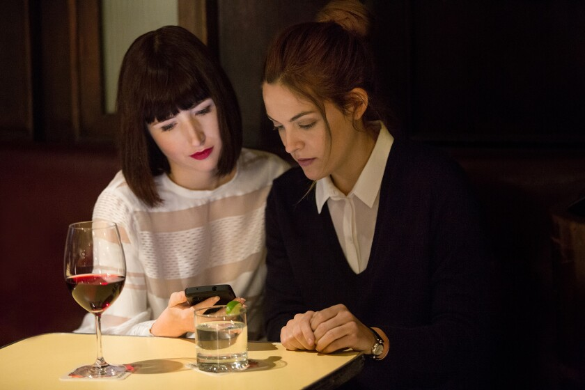 """Riley Keough, left, and Kate Lyn Shell in Starz' """"The Girlfriend Experience."""