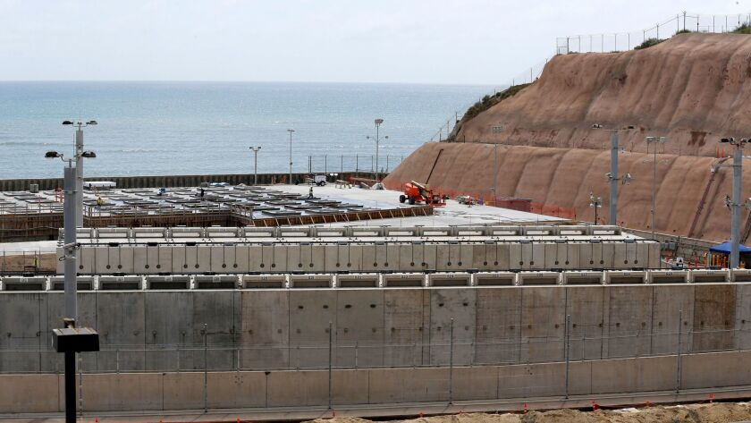 The Independent Spent Fuel Storage Installation, where used nuclear fuel will be stored vertically at the closed San Onofre Nuclear Generating Station in San Clemente, CA, on May 9.