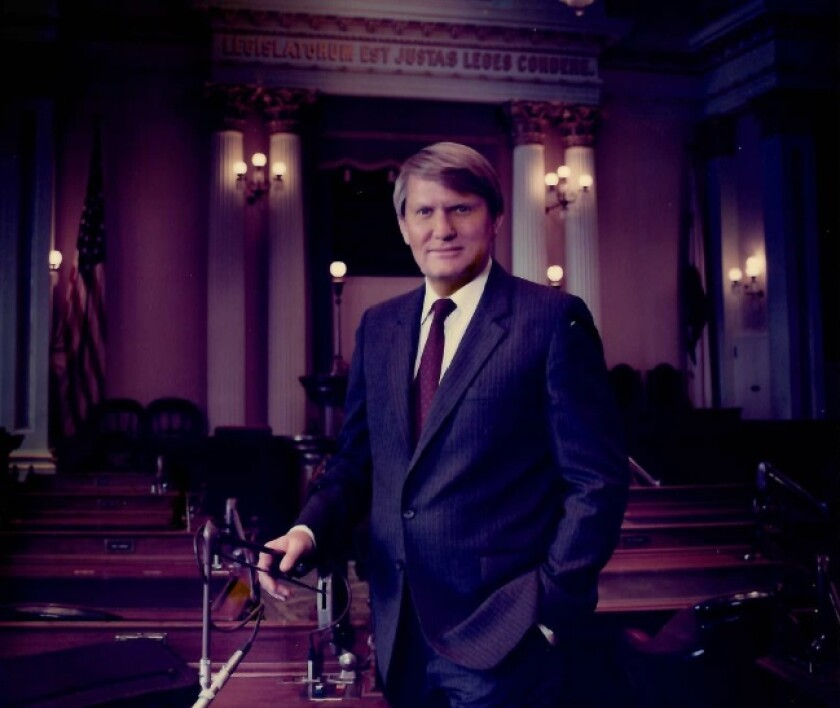 Larry Stirling was elected to the California Assembly in 1980 and the state Senate in 1988.