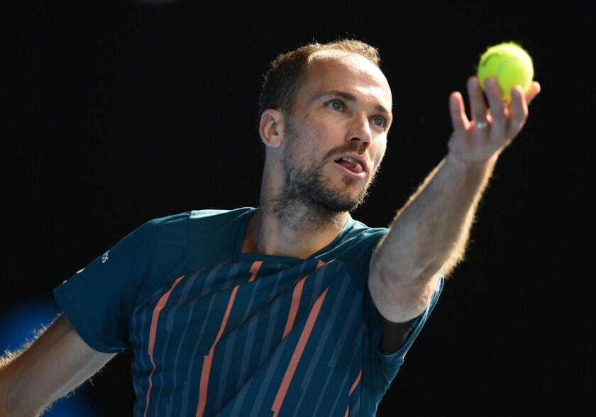Bruno Soares during the mixed doubles final at the Australian Open on Jan. 31.