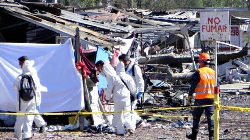 Ruiz se salvó así de las seis explosiones que el martes arrasaron el mercado de pirotecnia de Tutltepec, a las afueras de Ciudad de México. Murieron 33 personas.