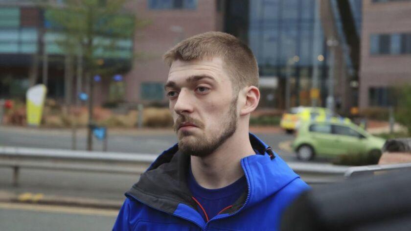 Tom Evans speaks to members of the media, outside Liverpool's Alder Hey Children's Hospital where hi