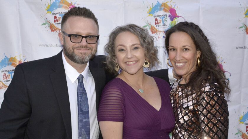 Burbank Arts for All Foundation Executive Director Trena Pitchford, center, with foundation co-chair