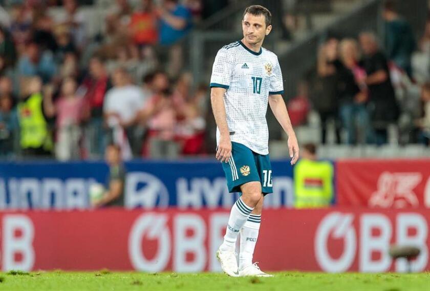 El futbolista ruso Alán Dzagóev. EFE/Archivo