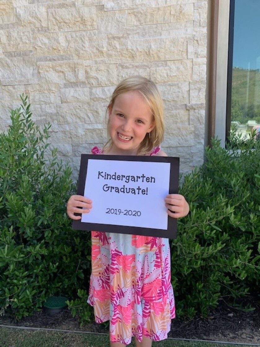 Evelyn Page is onto the next chapter: first grade!
