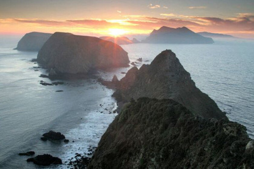 The Anacapa Island Tour from Channel Islands Helicopters offers the perfect Valentine's Day setting.