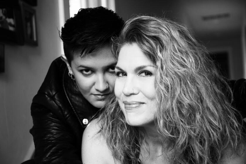 Danielle LoPresti (right) with her spouse and collaborator, Alicia Champion
