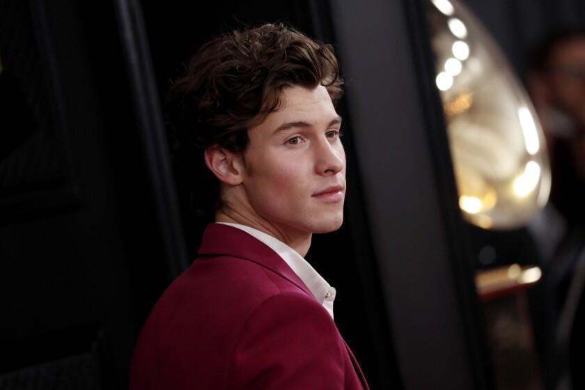 En la imagen un registro del cantante canadiense Shawn Mendes, en Los Ángeles.