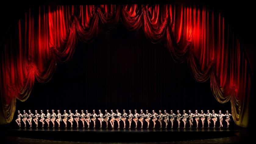 The Rockettes perform in the 2016 New York Spectacular at Radio City Music Hall.