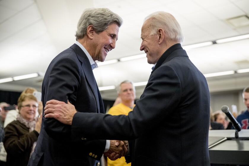 En esta foto de archivo del 1 de febrero de 2020, el entonces candidato presidencial demócrata Joe Biden