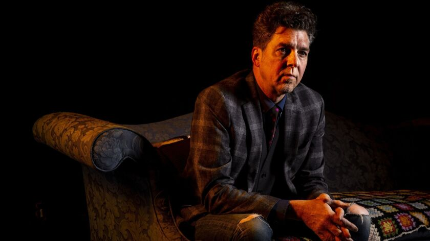 Musician-producer Joe Henry photographed before his show Saturday at Largo at the Coronet Theatre in Los Angeles.