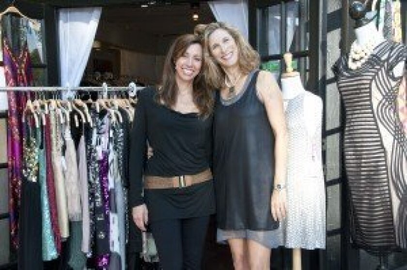 From left: Mindey Morrison and Lisa Harrison recently opened Del Mar Dress Company in Solana Beach at 324 S. Cedros Ave. Photo: Claire Harlin