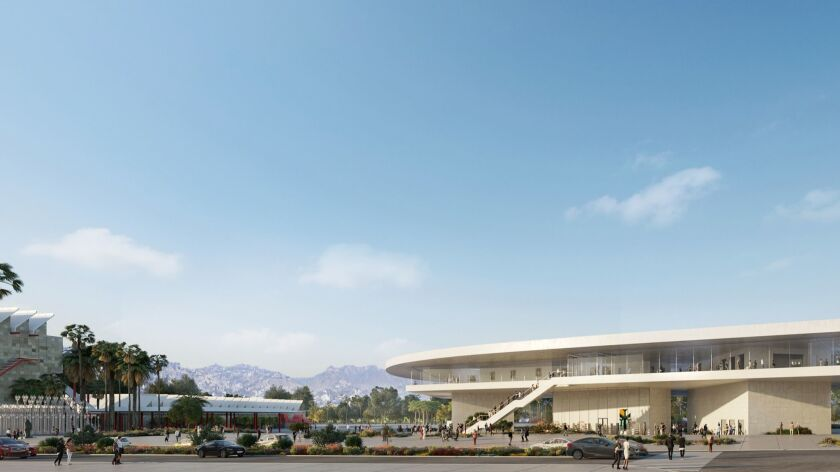 An updated rendering of the LACMA's new building in Miracle Mile.