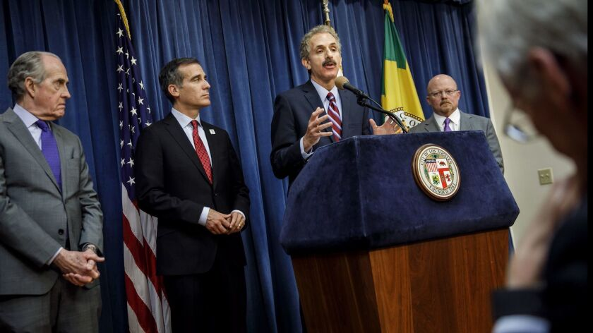LOS ANGELES, CALIF. -- THURSDAY, MAY 3, 2018: City Attorney Mike Feuer today announces a civil lawsu