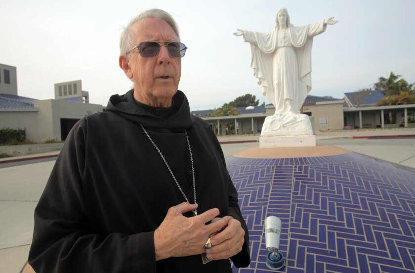 Abbot Charles Wright will step down from his position at the Prince of Peace Abbey in Oceanside on his 80th birthday in July.