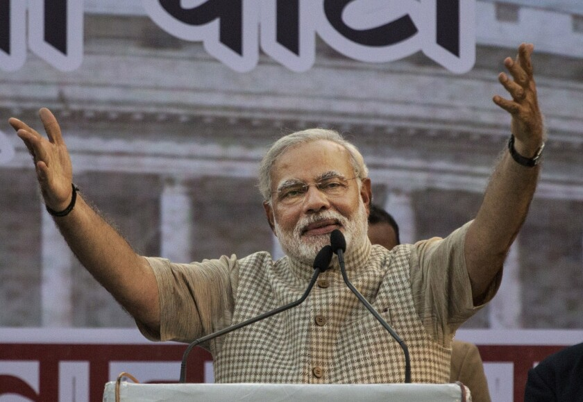 Indian Prime Minister Narendra Modi said Kashmir's previous status — some political autonomy and a ban on outsiders buying land and taking public sector jobs — had fueled a movement for separatism.