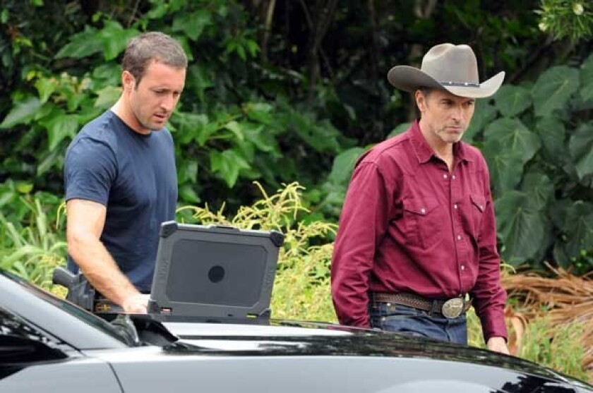 "Alex O'Loughlin, left, and Tim Daly in ""Hawaii Five-0"" on CBS."