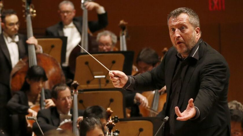 "LOS ANGELES, CALIF. -- FRIDAY, FEBRUARY 10, 2017: Thomas Adès conducts the LA Philharmonic in ""Dance"