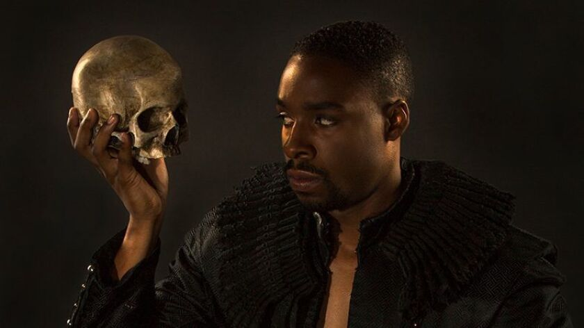 """Grantham Coleman will play the title role in the Old Globe Theatre's """"Hamlet,"""" which begins performances Aug. 6"""