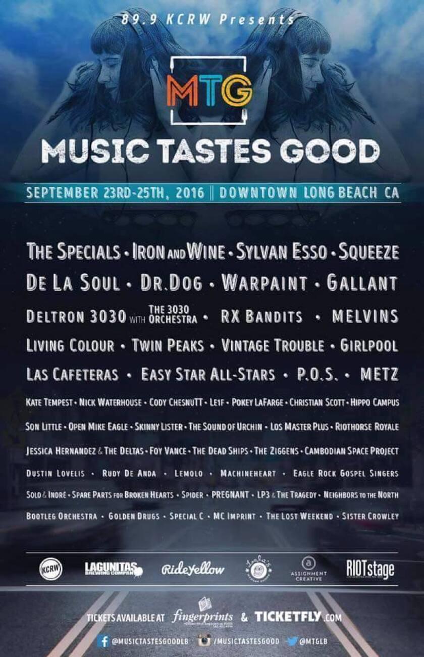 The poster for Music Tastes Good.