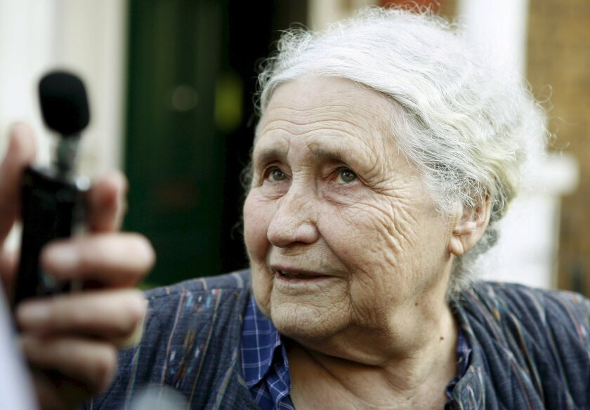 Doris Lessing after winning the Nobel Prize in literature in 2007.