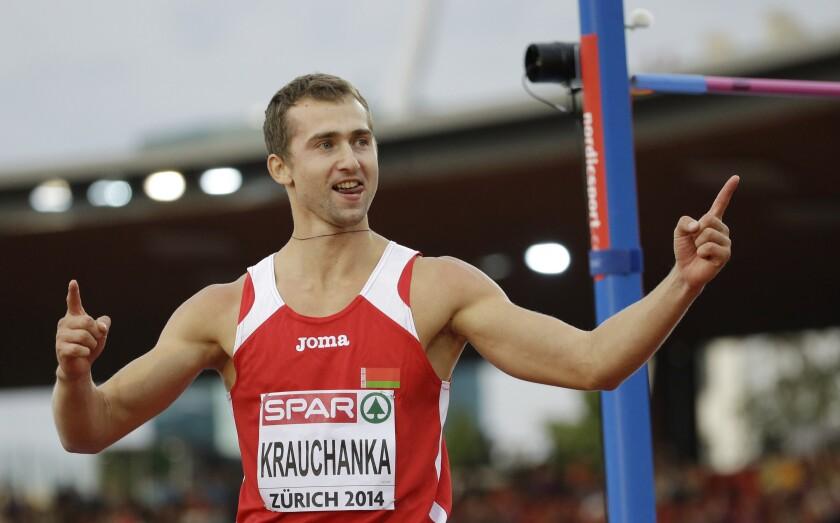 ARCHIVO - En esta foto de archivo del 12 de agosto de 2014, el bielorruso Andre Krauchanka.