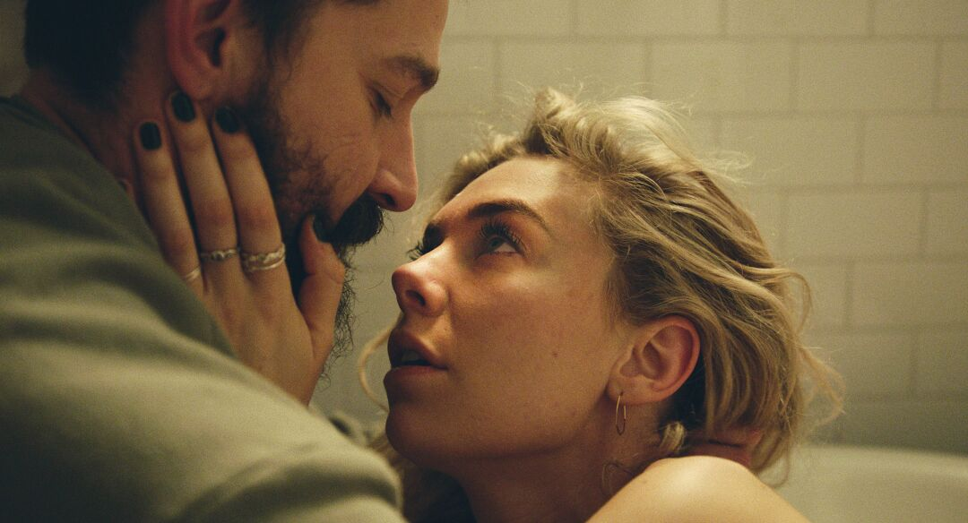Shia LeBeouf as Sean and Vanessa Kirby as Martha in PIECES OF A WOMAN.