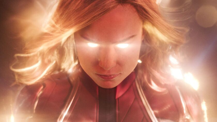 Brie Larson, as fighter pilot-turned-galactic hero Captain Marvel, stars in the Marvel Cinematic Universe's 21st entry — and its first female-led superhero standalone.