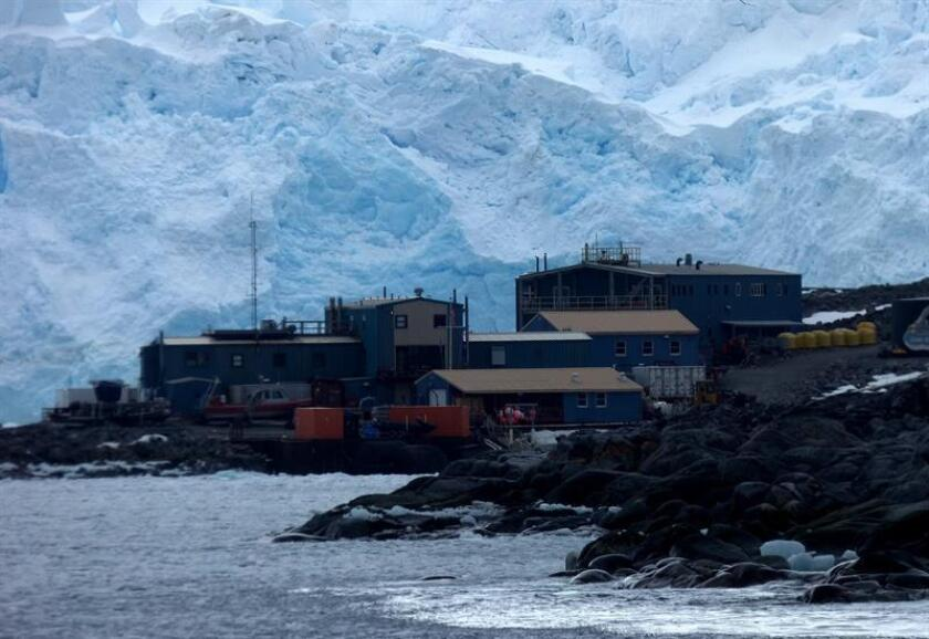 View of the US Palmer Station base in Anvers Island in Antarctica, which was visited on Jan. 9, 2019, by the Homeward Bound expedition on board the vessel Ushuaia and comprised of 80 female leaders in the STEMM fields. EFE-EPA/ Rachael Bice