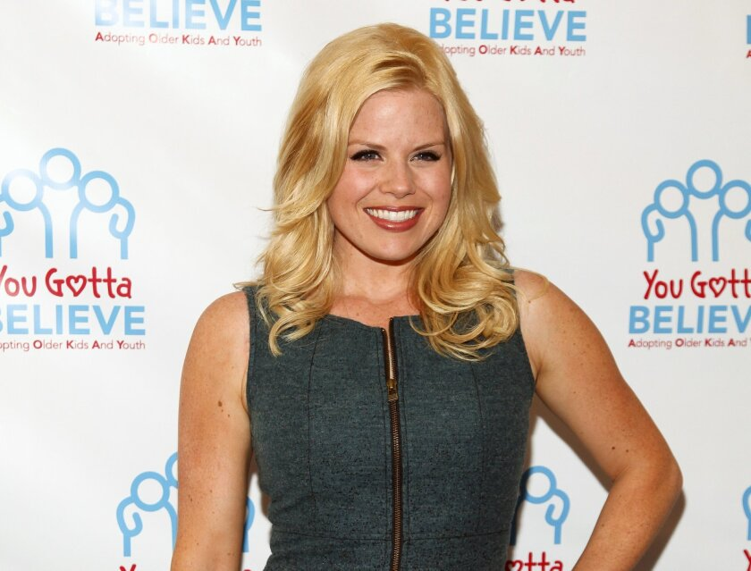 """FILE - In this June 29, 2015, file photo, actress Megan Hilty attends Voices for The Voiceless: Stars for Foster Kids in New York. Roundabout Theatre Company said Friday, July 24, that Hilty, Jeremy Shamos, Rob McClure, Campbell Scott and Tracee Chimo are joining the cast of """"Noises Off."""" Previews begin Dec. 17 at the American Airlines Theatre. (Photo by Andy Kropa/Invision/AP, File)"""