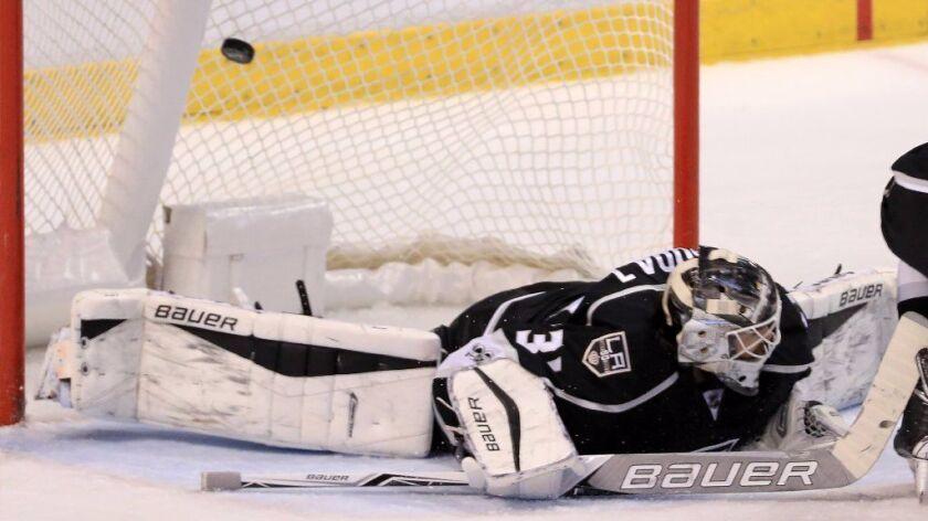 Puck is no longer stopping at Kings goaltender Peter Budaj