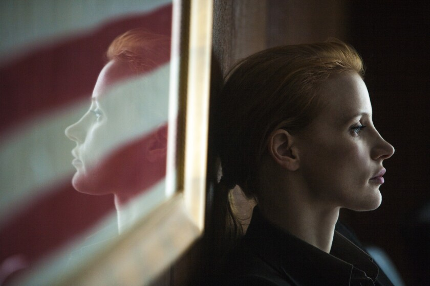 """Jessica Chastain plays a member of the elite team of spies and military operatives who secretly devoted themselves to finding Osama Bin Laden in """"Zero Dark Thirty."""""""