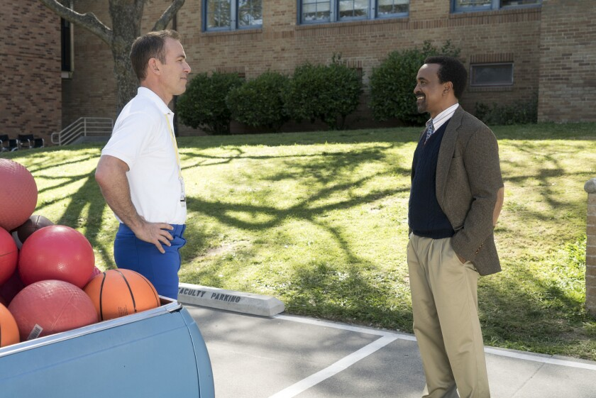 """Bryan Callen, left, and Tim Meadows in a scene from """"The Goldbergs."""""""